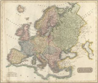 Europe, from the New General Atlas. John Thomson