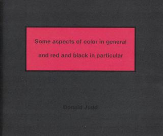 Some Aspects of Color in General and Red and Black in Particular DONAL. Judd
