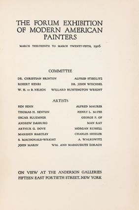 THE FORUM EXHIBITION OF MODERN AMERICAN PAINTERS.