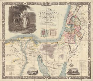 A New Map of Palestine or the Holy Land with Part of Egypt. Robert Seaton